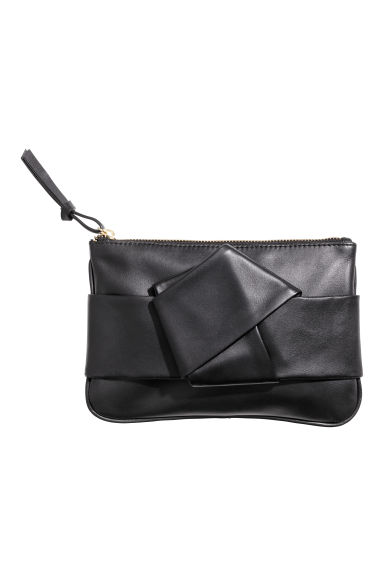 Leather pouch - Black -  | H&M GB